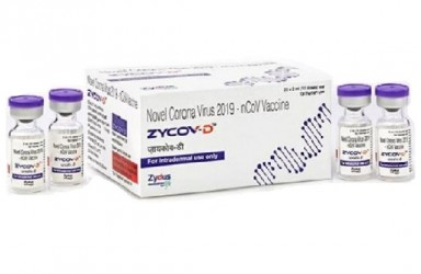 新药 Zycov-D(DNA新冠疫苗)印度获紧急使用授权